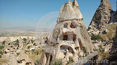 rock formations in the valley of Goreme Turkey Stock Photo