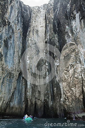 Rock formations of Witch Hill in San Cristobal island Editorial Stock Image
