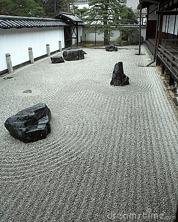 Rock garden in Kyoto, Japan