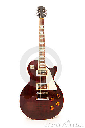 Rock guitar isolated