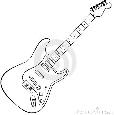Free Rock Guitar Vector Royalty Free Stock Image - 9343986