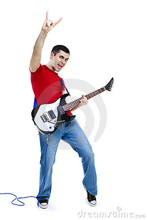 Rock on guitarist