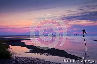 Rock Harbor Beach at Sunset