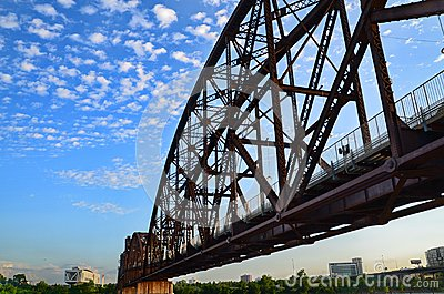 Rock Island Railroad Bridge.