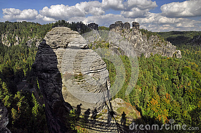Rock massif Bastei