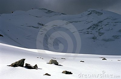 Rock, mountain, snow, ice