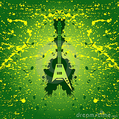 Rock music background - guitar