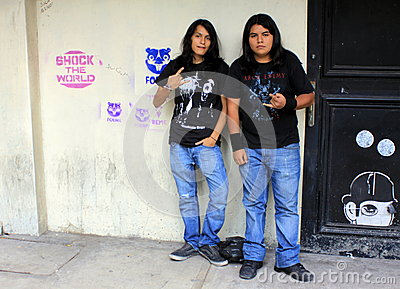 Rock Music Enthusiasts in Mexico City Editorial Image