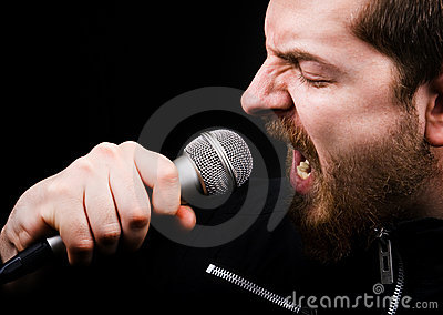 Rock music male singer