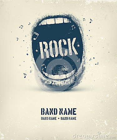 Free Rock Music Poster Stock Photo - 52027090