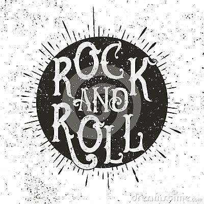 Free Rock Music Print Royalty Free Stock Images - 70805689