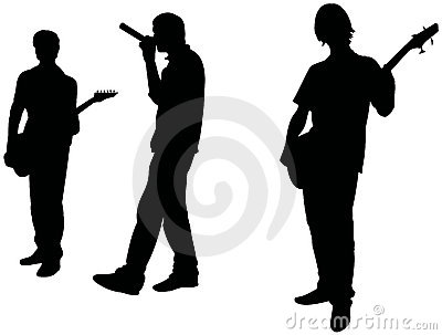 Rock music: teens band