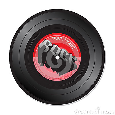Rock music vinyl record