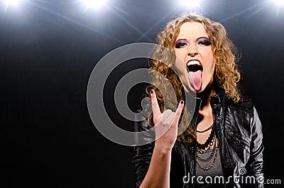 Rock music woman