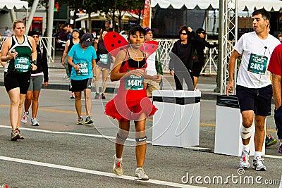 Rock  n Roll Marathon In Los Angeles Editorial Stock Image