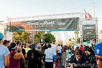 Rock  n Roll Marathon In Los Angeles Editorial Photography