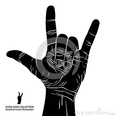 Free Rock On Hand Sign, Rock N Roll, Hard Rock, Heavy Metal, Music, D Royalty Free Stock Images - 43599799