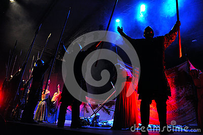 Rock opera, costume play live on the stage