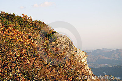 Rock outcropping on mountain