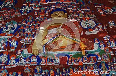 Rock paintings  in Lhasa