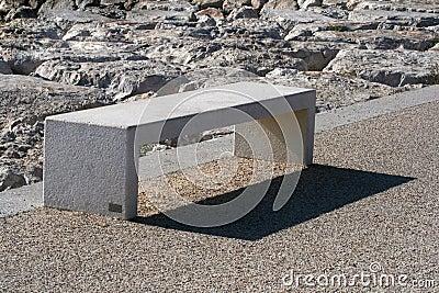 Rock park bench