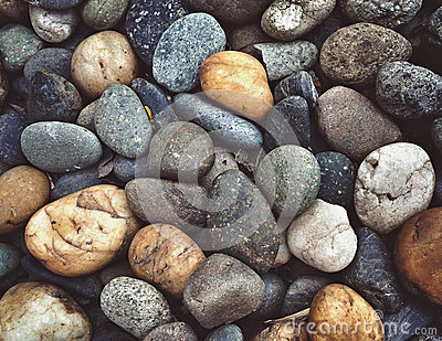 Rock and pebble