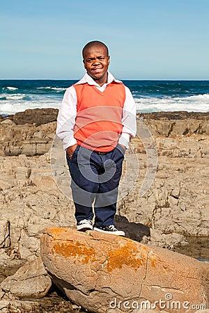 Rock posing