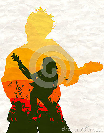 Rock poster or background