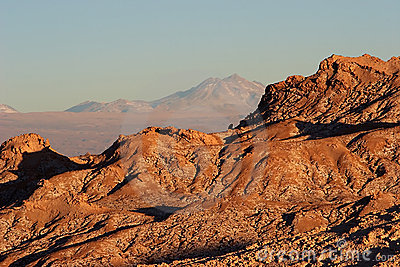 Rock ridge in Atacama Desert, Chile