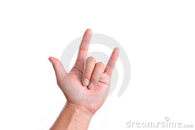 Rock and Roll Hand gesture
