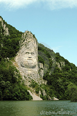 Rock sculpture of Decebalus, Romania