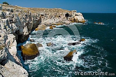 Rock sea coast Tulenovo