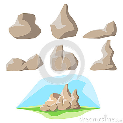 Free Rock Set And Background Stock Photography - 27815722