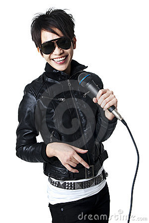 Free Rock Singer Royalty Free Stock Photography - 15042447