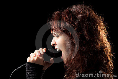 Rock Singer Screaming