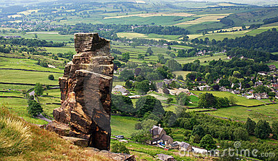 Rock Stack, Curbar Edge, Derbyshire Peak District