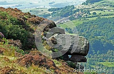 Rock Stack on Hillside, Derbyshire Peak District