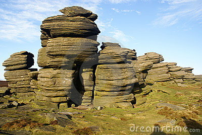 Rock Stacks in the Sheffield Peak District