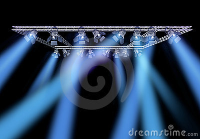 Rock stage lighting