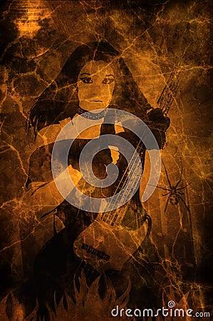 Rock Star Grunge Background