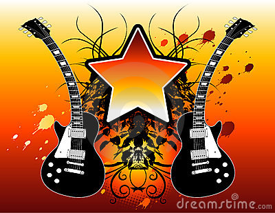 Rock star guitars