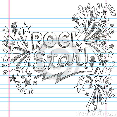 Free Rock Star Music Sketchy Doodles Vector Illustratio Royalty Free Stock Photo - 30419195