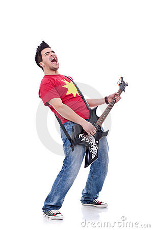 Rock star screaming
