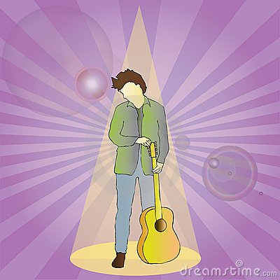 Rock Star in Spot Light
