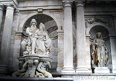 Rock statues