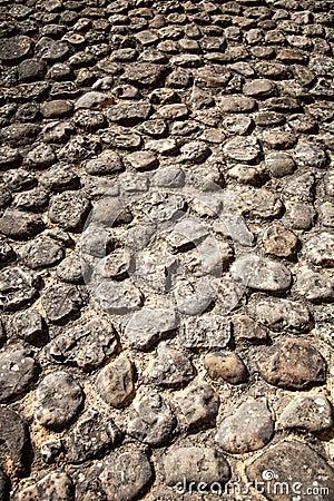 Rock stone pavement