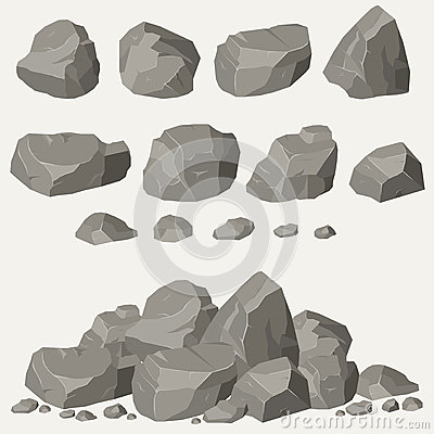 Free Rock Stone Set Royalty Free Stock Image - 69543686