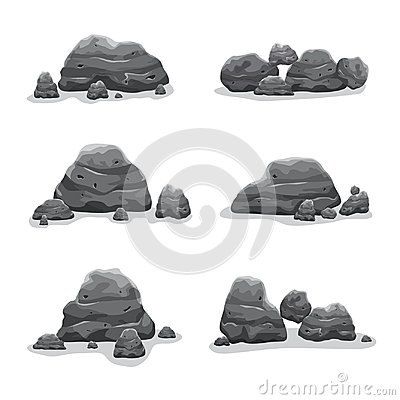 Free Rock Stones Set Vector Art Collection Stock Image - 107952421