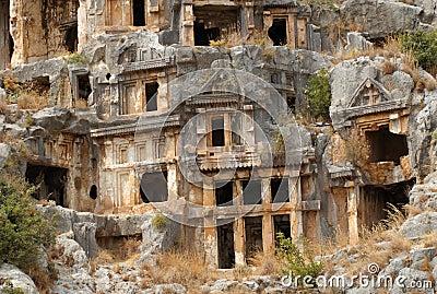 Rock tombs, Myra, Turkey