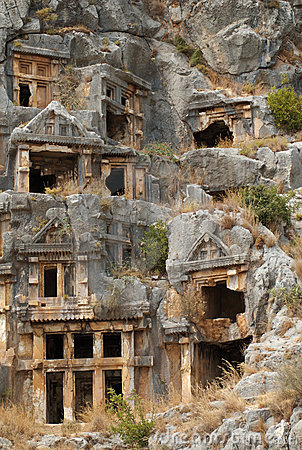 Rock tombs, Myra, Turkey